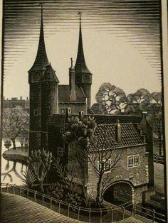 Delft volgens M.C. Escher