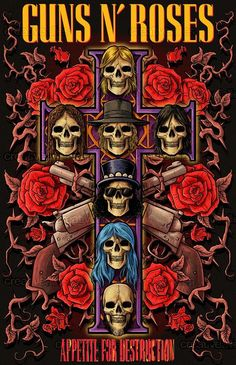 Guns N Roses Arte Heavy Metal, Heavy Metal Music, Guns N Roses, Hard Rock, Concert Rock, Rock Band Posters, Vintage Concert Posters, Band Wallpapers, Music Wallpaper
