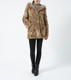 Mink Faux Fur Hooded Coat