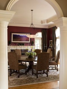 Best Maroon Dining Room  Dining Rooms  Roomspiration Continues Unique Decorating Dining Room Wall Design Ideas