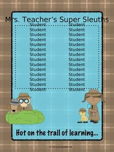 Class list poster to display student names in your classroom - EDITABLE!