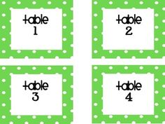 Polka Dot Themed Back to School Signs and Classroom Labels...need for polka dot classroom!!!