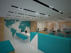 A modern and interesting way to design the office space for our travel agencies