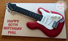 Cake Birthday Music Electric Guitars 39 Ideas For 2019 Rockstar Birthday, Happy 60th Birthday, Birthday Music, Music Themed Cakes, Music Cakes, Guitar Party, Guitar Cake, Fancy Cakes, Cute Cakes