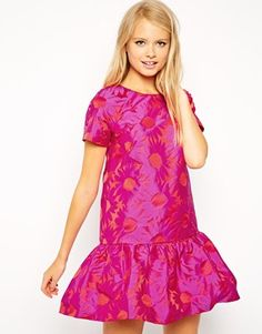 Enlarge ASOS Shift Dress in Floral Jacquard with Peplum