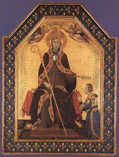 ❤ - SIMONE MARTINI (1285 -1344) -  Altar of Saint Louis of Toulouse - 1317. Museo Nazionale di Capodimonte, Naples.