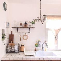 kokuri0306さんの、古材,雑貨,タイルのキッチン,DIY,RC愛知,中古住宅,リノベーション,キッチン,のお部屋写真