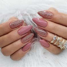 The trend of almond shape nails has been increasing in recent years. Many women who love nails like almond nail art designs. Almond shape nails are suitable for all colors and patterns. Almond nails can be designed to be very luxurious and fashionabl Cute Acrylic Nails, Cute Nails, My Nails, Grow Nails, Almond Nail Art, Almond Nails, Stylish Nails, Trendy Nails, Dream Nails