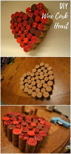 Check out this easy idea on how to make a #DIY wine cork heart wall art for #ValentinesDayDecor #ValentinesDayCrafts #ValentinesIdeas @istandarddesign