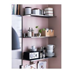 LIMHAMN Wall shelf IKEA Shelves in stainless steel, a hygienic, strong and durable material that is easy to keep clean.