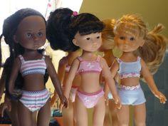 Brassières et petites culottes pour poupées Chéries - Le blog des bricoletteuses