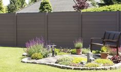 BPC Zaunsystem Holstebro The BPC fence system Holstebro is available in the colors anthracite, terra Fence Slats, Privacy Fences, Front Gates, Odense, Grey Stone, Outdoor Furniture, Outdoor Decor, Horticulture, Different Colors