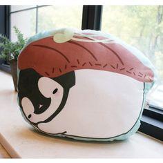 Korea Peperico Cute Lovely Kawaii Panguin Sushi Character 18in Pillow Wagyu Beef #Peperico