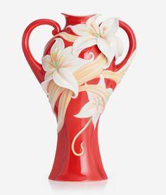 Franz Porcelain Fragrant Lily Vase