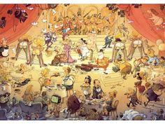 Varieté Paris by Degano [1000 peças] New Puzzle, Paris, Cartoon Art, Caricature, Illustration Art, Illustrations, Jigsaw Puzzles, Entertaining, Manga