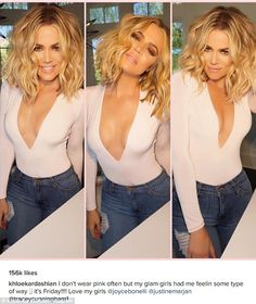 Cleavage: Khloe Kardashian showcased the impressive results of her regime on Friday in a plunging outfit