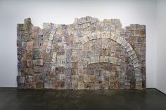 Johannes VanDerBeek  Ruins, 2007  Life, Time and National Geographic magazines, wood and glue  113 x 200 inches  287 x 508 cm