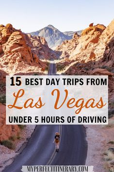 My Perfect Itinerary - - These are the best day trips from Las Vegas that are less than 5 hours of driving in a day. Most of these spots are free to access or have a small park fee! Death Valley, Valley Of Fire, Vegas Vacation, Las Vegas Trip, Italy Vacation, Las Vegas Travel, Vacation Places, Vacation Ideas, Usa Travel Guide