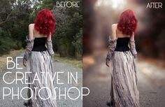 BE CRETIVE IN PHOTOSHOP WITH ME :) In this Tutorial I'm Gonna Turn Normal photo to Awesome photo & you will learn How to Create Light Rays also :) Used filte...