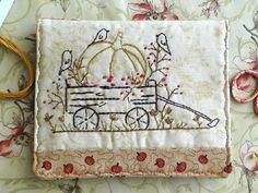 Autumn Season Hand Embroidery Needlebook - via @Craftsy