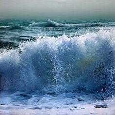 Pintura hiperrealista de mares y flores, se trata del pintor  Vadim Klevenskiy, nacido en 1964 en Tashkent, Uzbekistán, ex Unión Soviética