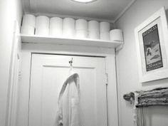 Small bathroom idea TP storage shelf by ida