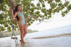adove fine jewelry 2013 look book. land locked mermaid. location-anini beach, kauai, hawaii, model-kanako, swimwear-made by dawn, photography-mami