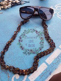Handmade Accessories, Wayfarer, Chain, Sunglasses, Style, Fashion, Swag, Moda, Fashion Styles