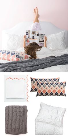 Refresh your bedroom with chic bedding, duvets and sheets for your modern home.