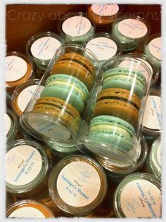 French #Macarons baby shower favors #boxofmacarons
