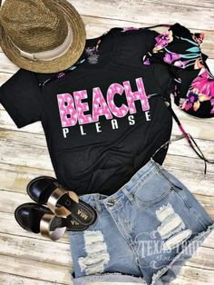 8656fc6c88e63 Beach Please Short Sleeve Tee Shirt