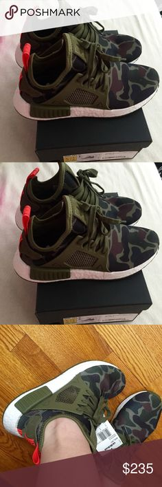 Adidas NMDXR1 Limited release Adidas NMDXR1 duck green camo. 100%authentic, size Men-5.5/Women6.5 . Brand new with tag . Adidas Shoes Sneakers