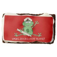 World's Greatest Nurse chocolate brownie
