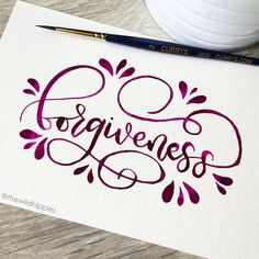 """738 Likes, 18 Comments - Graphic Designer & Letterer (@thewildhippies) on Instagram: """"Forgiveness // #happyletteringchallenge #letteringchallenge @happyletteringchallenge"""""""