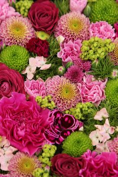 So you should always have a pink and green floral arrangement in your office or home.