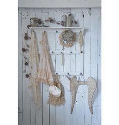 Vægophæng m / hylde og knager, Jeanne d´Arc Living, JDL, køkkenophæng, ophæng, hyldeophæng, fransk landstil, fransk vintage.