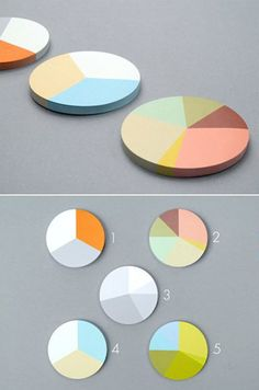 Pie chart sticky notes. Yes, please.