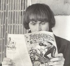 Musician David Crosby (a founding member of The Byrds as well as Crosby, Stills  Nash and CPR) reading Avengers #22, 1965.
