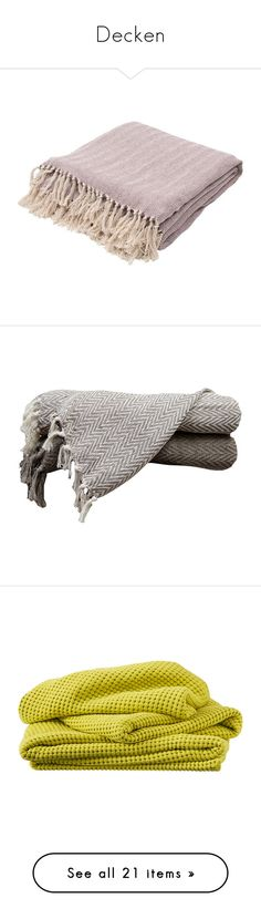 """""""Decken"""" by nanni33 ❤ liked on Polyvore featuring home, bed & bath, bedding, blankets, throws & blankets, woven throw blanket, herringbone throw blankets, textured throw, woven blankets and light weight blankets"""