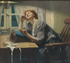 Dentellière par Firmin Baes, 1918