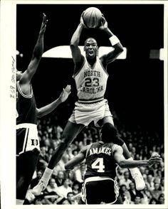 Michael Jordan playing for North Carolina