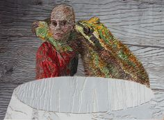50X70 cm thread on textile, 2015