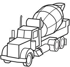 Print Coloring Page And Book Cement Truck For Kids Of All Ages