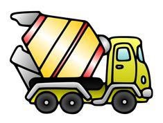 Free Cartoon Mixer Truck Clip Art