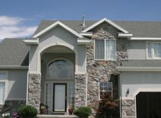 Fieldstone - Grey Weber Split Stone Gallery, Manufactured Stone, Mountain, Mansions, House Styles, Grey, Home Decor, Mansion Houses, Ash