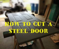 How to cut and resize a steel clad entry door