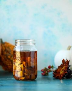 Butternut squash infused bourbon