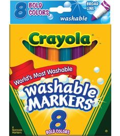 BIN587832 - Bold Colors Washable Waterbased Markers Crayola https://www.amazon.com/dp/B002EE1XMO/ref=cm_sw_r_pi_dp_x_X9IXybD3EPPHE