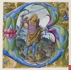 Archangel Saint Michael fighting the dragon and holding the balances to weigh the souls  https://www.flickr.com/photos/28433765@N07/6536761595/sizes/l