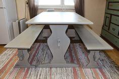 pirttikalusto - Google-haku Irene, Dining Table, Cottage, Country, Google, Furniture, Home Decor, Decoration Home, Rural Area